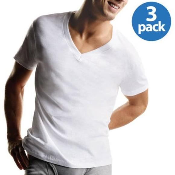9560ecae1ec7 Hanes Shirts | 3 Mens Tagless 100 Cotton Vneck Tshirt Xl | Poshmark